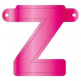 Banner letter Z fuchsia