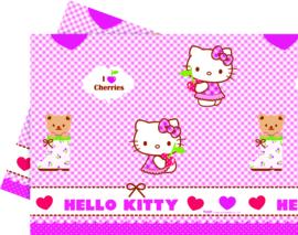 Hello Kitty Hearts tafelkleed 120 x 180 cm.