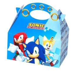 Sonic The Hedgehog traktatie doosje 16 x 10 x 16 cm.