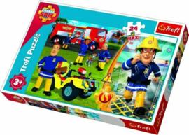 Brandweerman Sam puzzel 24 stukjes maxi