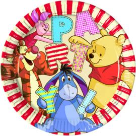 Disney Winnie de Poeh bordjes alfabet ø 23 cm. 8 st.