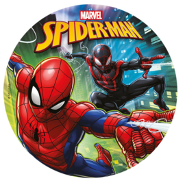 Spiderman frosting taart decoratie ø 20 cm.