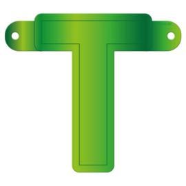 Banner letter T lime groen