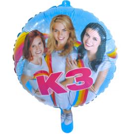 K3 folieballon ø 45 cm.