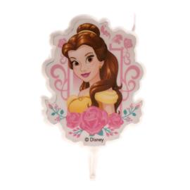Disney Princess Belle taart kaars 2D 7,5 cm.