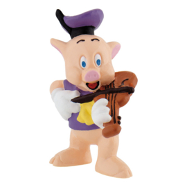 Disney The Three Little Pigs Fiddler taart topper decoratie 6 cm.