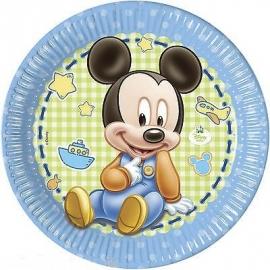 Disney Baby Mickey Mouse gebakbordjes ø 20 cm. 8 st.