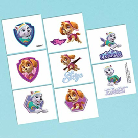Paw Patrol Skye en Everest tattoos