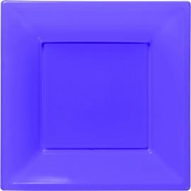 Paarse vierkante gebakbordjes 18 x 18 cm. 8 st.