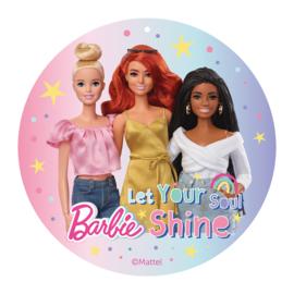 Barbie eetbare taart decoratie Let Your Soul Shine ø 20 cm.