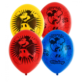 Disney Mickey Mouse ballonnen There's Only One Mickey ø 27,5 cm. 6 st.