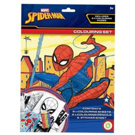 Spiderman kleur- en stickerset
