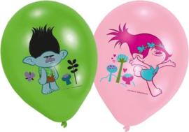 Trolls ballonnen full color ø 27,5 cm. 6 st.