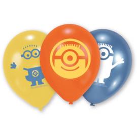 Minions ballonnen ø 22,8 cm. 6 st.
