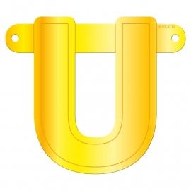 Banner letter U geel