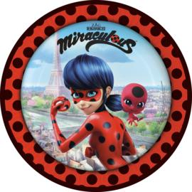 Ladybug Miraculous bordjes ø 23 cm. 8 st.