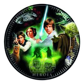 Star Wars bordjes Heroes ø 23 cm. 8 st.
