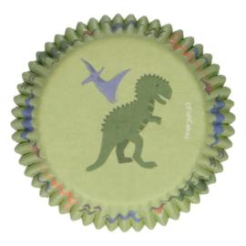 Dinosaurus cupcake vormpjes 48 st.