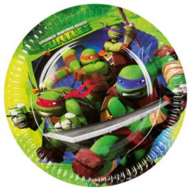 Ninja Turtles bordjes ø 23 cm. 8 st.