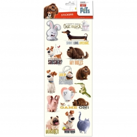 The Secret Life Of Pets stickervel 15 x 3 cm.