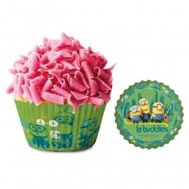 Minions cupcake vormpjes 50 st.