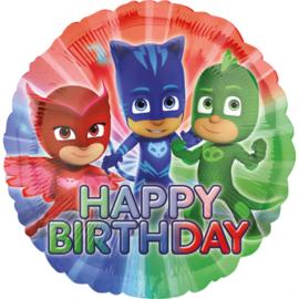 PJ Masks happy birthday folieballon ø 43 cm.