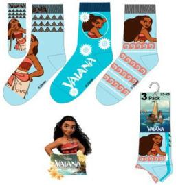 Disney Vaiana sokken 3 paar mt. 31-34