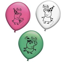 Peppa Pig party ballonnen 8 st.