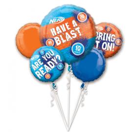 Nerf folieballonnen boeket 5-delig