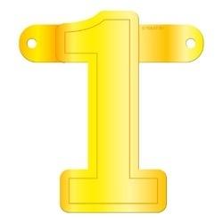Banner cijfer 1 geel
