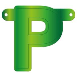 Banner letter P lime groen