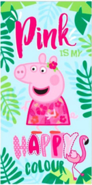 Peppa Pig strandlaken Pink Is My Happy Colour 70 x 140 cm.