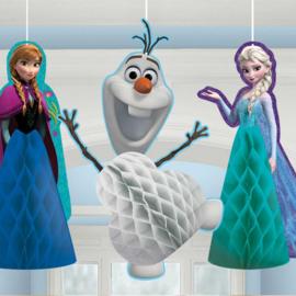 Disney Frozen honeycomb hangdecoratie 3 st.
