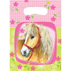 Paarden traktatiezakjes Charming Horses 6 st.