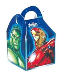Avengers traktatiedoosje 10 x 10 x 11 cm.