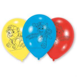 Paw Patrol ballonnen ø 22,8 cm. 6 st.