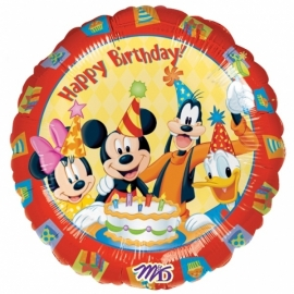 Disney Mickey Mouse & friends happy birthday folieballon ø 45 cm.