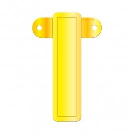 Banner letter I geel