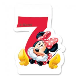 Disney Minnie Mouse 2D 7e verjaardag taart kaars