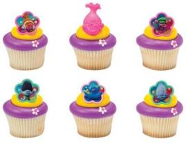 Trolls cupcake ring 6 st.