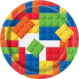 Lego Building Blocks gebakbordjes ø 17,1 cm. 8 st.