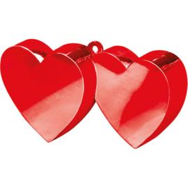 Ballongewicht rode hartjes