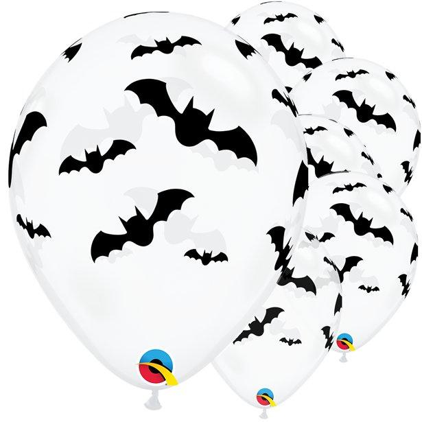 Vleermuis ballonnen ø 27,94 cm. 6 st.