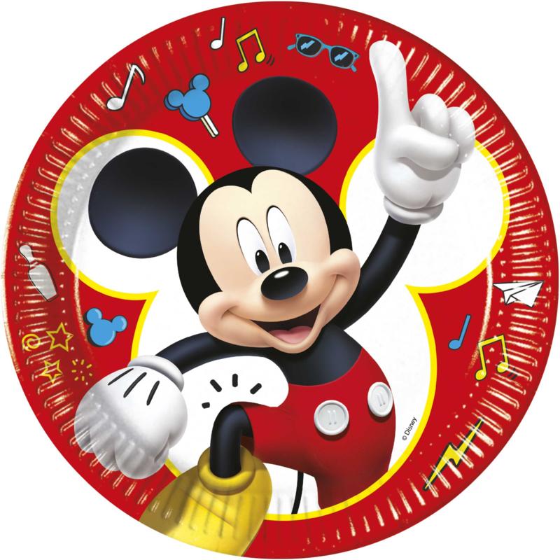 Disney Mickey Mouse bordjes Pals at Play ø 23 cm. 8 st.