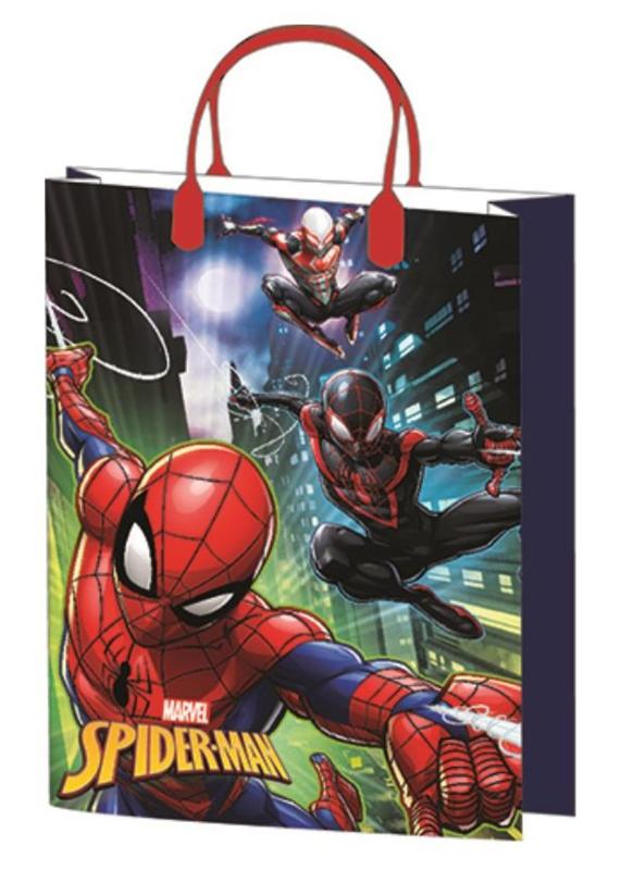 Marvel Spiderman cadeau tasje M 32 x 27 x 10 cm.