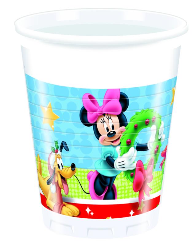 Disney Mickey Christmas bekertjes 8 st. 20 cl.