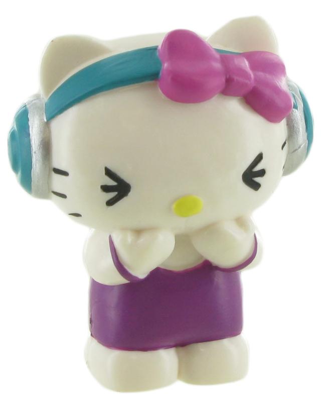 Hello Kitty taart topper decoratie muziek 6 cm.