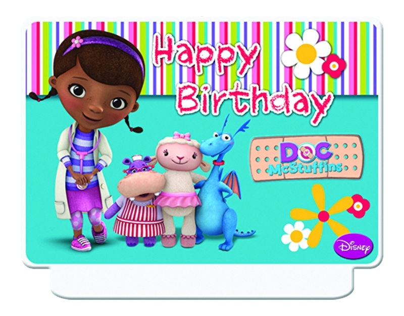 Disney Doc McStuffins happy birthday kaars