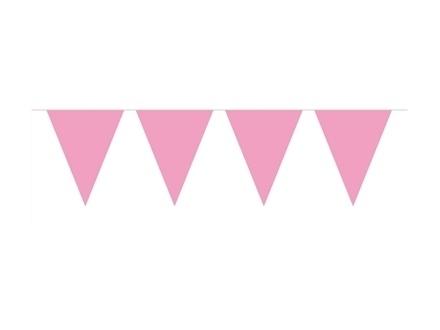 Vlaggenlijn roze 10 mtr.