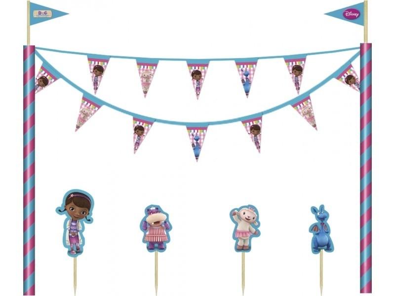 Disney Doc McStuffins taart decoratieset 5-delig